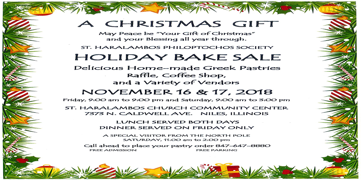 Philoptochos Holiday Bake Sale